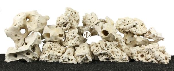 Zestaw Skał do Akwarium Malawi/Morskie 120cm (nr. 42) - Zawiera skałę koralową o wymiarach: 5 - 15cm (3kg), 15 - 25cm (7kg), powyżej 25cm (4kg) oraz wapień filipiński: 5 - 15cm (5kg), 15 - 25cm (13kg), powyżej 25cm (10kg)