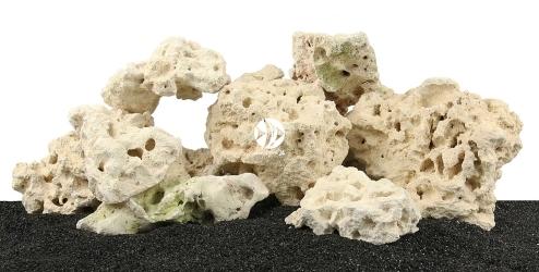 Zestaw Skał do Akwarium Malawi/Morskie 90cm (nr. 39) - Zawiera skałę koralową o wymiarach: 5 - 15cm (2kg), 15 - 25cm (3kg), powyżej 25cm (5kg) oraz wapień filipiński: 5 - 15cm (2kg), 15 - 25cm (3kg)