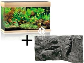 Rio 125 HeliaLux Spectrum Jasne drewno (dąb) + Tło Orinoco Juwel - Zawiera: akwarium z pełnym wyposażeniem, tło strukturalne