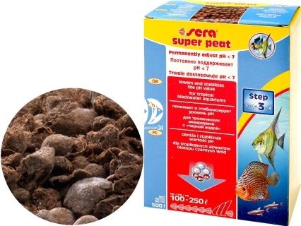 SERA Super Peat 500g (08410) - Wkład do filtra do akwarium wprowadzający związki humusowe