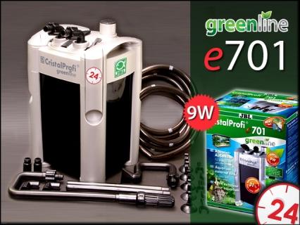 JBL CRISTALPROFI GREENLINE e701 (60210) - Energooszczędny filtr zewnętrzny do akwarium 60-200l