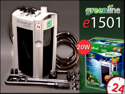 JBL CRISTALPROFI GREENLINE e1501 (60212) - Energooszczędny filtr zewnętrzny do akwarium 160-600l