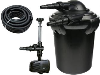 AQUA NOVA Zestaw do filtracji oczka 500-2000l ECO - Zawiera: filtr ciśnieniowy, pompa, wąż spiralny