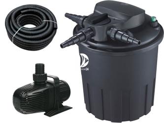 AQUA NOVA Zestaw do filtracji oczka z wodospadem 6000-12000l ECO - Zawiera: filtr ciśnieniowy, pompa, wąż spiralny
