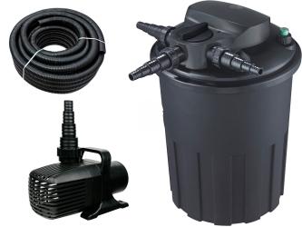 AQUA NOVA Zestaw do filtracji oczka z wodospadem 9000-15000l ECO - Zawiera: filtr ciśnieniowy, pompa, wąż spiralny