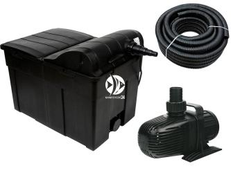 AQUA NOVA Zestaw do filtracji oczka 9000-12000l ECO BIO - Zawiera: filtr przelewowy, pompa, wąż spiralny