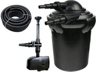 AQUA NOVA Zestaw do filtracji oczka z wodospadem 500-2000l ECO - Zawiera: filtr ciśnieniowy, pompa, wąż spiralny