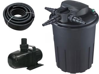 AQUA NOVA Zestaw do filtracji oczka 9000-15000l ECO - Zawiera: filtr przelewowy, pompa, wąż spiralny