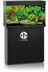 JUWEL Rio 125 LED Czarny + Szafka - Zawiera: Wyposażone akwarium z oświetleniem LED, szafka