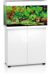 JUWEL Rio 125 HeliaLux Spectrum Biały + Szafka - Zawiera: Wyposażone akwarium z oświetleniem HeliaLux Spectrum LED, szafka