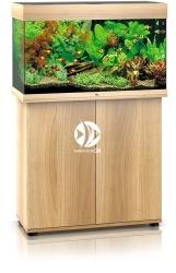 JUWEL Rio 125 HeliaLux Spectrum Jasne drewno + Szafka - Zawiera: Wyposażone akwarium z oświetleniem HeliaLux Spectrum LED, szafka
