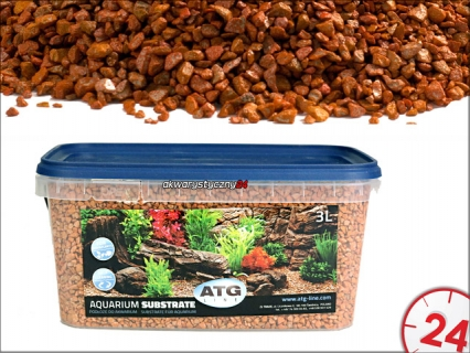 ATG AQUARIUM SUBSTRATE NAMIBIA 2-4mm, 3L - Samoczyszczące podłoże do akwarium o własciwościach antyglonowych i absorbcyjnych.