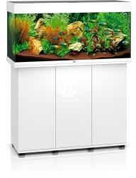 JUWEL Rio 180 LED Biały + Szafka - Zawiera: Wyposażone akwarium z oświetleniem LED, szafka