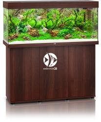 JUWEL Rio 240 LED Ciemne drewno + Szafka - Zawiera: Wyposażone akwarium z oświetleniem LED, szafka