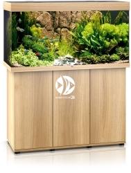 JUWEL Rio 350 HeliaLux Spectrum (2x belka) Jasne drewno (dąb) + Szafka - Zawiera: Wyposażone akwarium z oświetleniem HeliaLux Spectrum LED, szafka