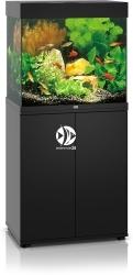 JUWEL Lido 120 LED Czarny + Szafka - Zawiera: Wyposażone akwarium z oświetleniem LED, szafka
