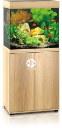 JUWEL Lido 120 LED Jasne drewno (dąb) + Szafka - Zawiera: Wyposażone akwarium z oświetleniem LED, szafka
