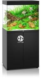 JUWEL Lido 200 LED Czarny + Szafka - Zawiera: Wyposażone akwarium z oświetleniem LED, szafka
