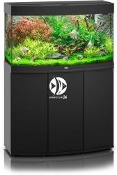 JUWEL Vision 180 HeliaLux Spectrum Czarny + Szafka - Zawiera: Wyposażone akwarium z oświetleniem HeliaLux Spectrum LED, szafka