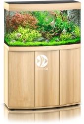 JUWEL Vision 180 HeliaLux Spectrum Jasne drewno (dąb) + Szafka - Zawiera: Wyposażone akwarium z oświetleniem HeliaLux Spectrum LED, szafka