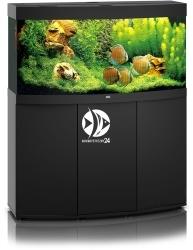 JUWEL Vision 260 HeliaLux Spectrum Czarny + Szafka - Zawiera: Wyposażone akwarium z oświetleniem HeliaLux Spectrum LED, szafka