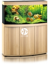JUWEL Vision 260 HeliaLux Spectrum Jasne drewno (dąb) + Szafka - Zawiera: Wyposażone akwarium z oświetleniem HeliaLux Spectrum LED, szafka