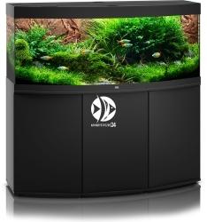 JUWEL Vision 450 HeliaLux Spectrum (2x belka) Czarny + Szafka - Zawiera: Wyposażone akwarium z oświetleniem HeliaLux Spectrum LED, szafka