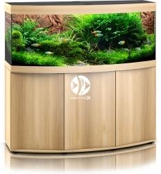 JUWEL Vision 450 LED (2x belka) Jasne drewno (dąb) + Szafka - Zawiera: Wyposażone akwarium z oświetleniem LED, szafka