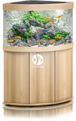 JUWEL Trigon 190 LED Jasne drewno (dąb) + Szafka - Zawiera: Wyposażone akwarium z oświetleniem LED, szafka