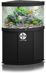 JUWEL Trigon 190 HeliaLux Spectrum Czarny + Szafka - Zawiera: Wyposażone akwarium z oświetleniem HeliaLux Spectrum LED, szafka