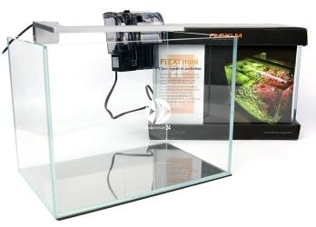 FLEXI mini Scape Set Srebrna lampka (FM74005) - Zestaw akwariowy z oświetleniem (srebrna lampka), filtrem kaskadowym i podkładką.