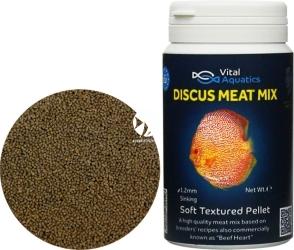 VITAL AQUATICS Discus Meat Mix (DM045) - Tonący pokarm zawierający mięso dla paletek
