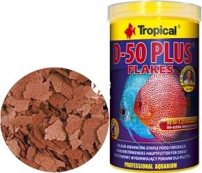 TROPICAL D-50 Plus Flakes - Wysokobiałkowy, wybarwiający pokarm płatkowany dla paletek