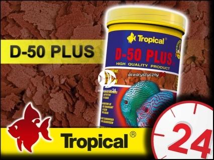 TROPICAL D-50 PLUS - Wysokobiałkowy, wybarwiający pokarm płatkowany dla paletek
