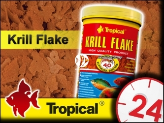 TROPICAL KRILL FLAKE 185g/1L - Wybarwiający pokarm z krylem dla wybrednych ryb