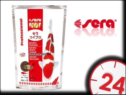 SERA KOI PROFESSIONAL SPIRULINA 1kg - Wybarwiający pokarm dla karpii koi ze spiruliną