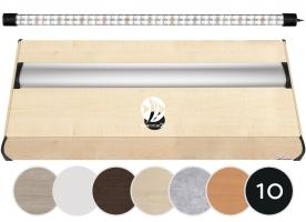DIVERSA Pokrywa Platino LED 80x35cm (1x17W) (118021) - Aluminiowa obudowa z oświetleniem LED