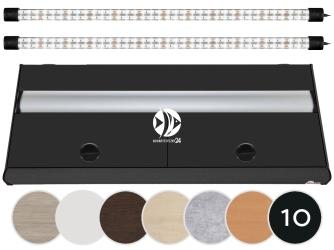 DIVERSA Pokrywa Platino LED 100x40cm (2x24W) (117112) - Aluminiowa obudowa z oświetleniem LED