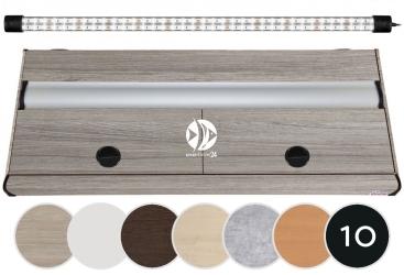 DIVERSA Pokrywa Platino LED 100x50cm (1x24W) (117140) - Aluminiowa obudowa z oświetleniem LED