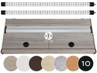 DIVERSA Pokrywa Platino LED 100x50cm (2x24W) (117147) - Aluminiowa obudowa z oświetleniem LED