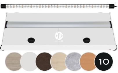 DIVERSA Pokrywa Platino LED 200x80cm (1x42W) (117306) - Aluminiowa obudowa z oświetleniem LED