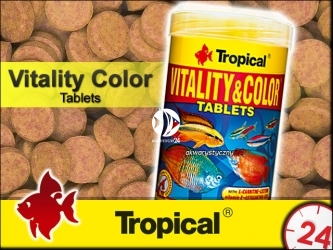 TROPICAL VITALITY & COLOR TABLETS 50g | Wysokobiałkowy, wybarwiający pokarm w postaci samoprzylepnych tabletek z astaksantyną