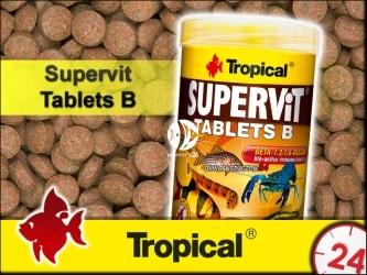 TROPICAL SUPERVIT TABLETS B 50g | Wieloskładnikowy, podstawowy pokarm w postaci tonących tabletek z beta-glukanem