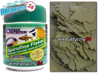 OCEAN NUTRITION Spirulina Flakes 32l (5000g) - Wysokiej jakości pokarm stymulujący kolory, zdrowie i wzrost ryb.
