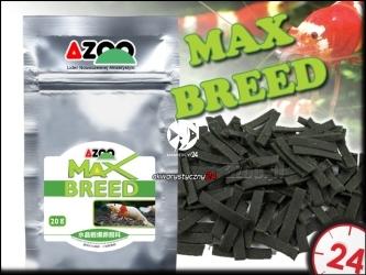 AZOO MAX BREED 20g | Najwyższej jakości pokarm dla krewetek Crystal Red stymulujący rozmnażanie