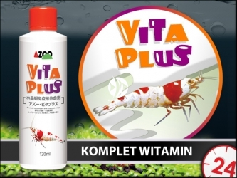 AZOO VITA PLUS 120ml (AZ11058) - Skuteczny preparat witaminowy dbający o zdrowie krewetek.