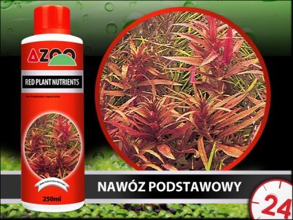 AZOO Red Plant Nutrients (AZ11023) - Kompletny nawóz do akwarium, poprawia kolory roślin czerwonych.