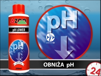 AZOO pH LOWER 250ml - Bezpieczny preparat do obniżania pH w akwarium