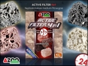 AZOO ACTIVE FILTER 4in1 1L | Biologiczny wkład do filtra w akwarium o szerokim spektrum działania