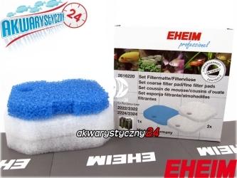 EHEIM PROFESSIONEL 2222/2322 (2616220) | Komplet gąbek do filtra Eheim Professionel 2222/2224 i termofiltrów 2322/2324 (biała + niebieska)